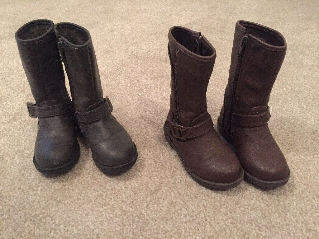 2 pairs size 6 toddler boots- worn once