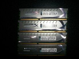 Kingston HyperX Genesis Grey 16GB (4x4GB) DDR3 Ram
