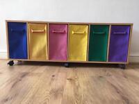 Kids storage - multi colour (6 basket)