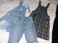 Size 8 bundle cotton dress and jeans