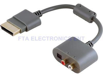 Analog Stereo RCA and Toslink Digital Optical Audio Adapter for xBox360 Xbox