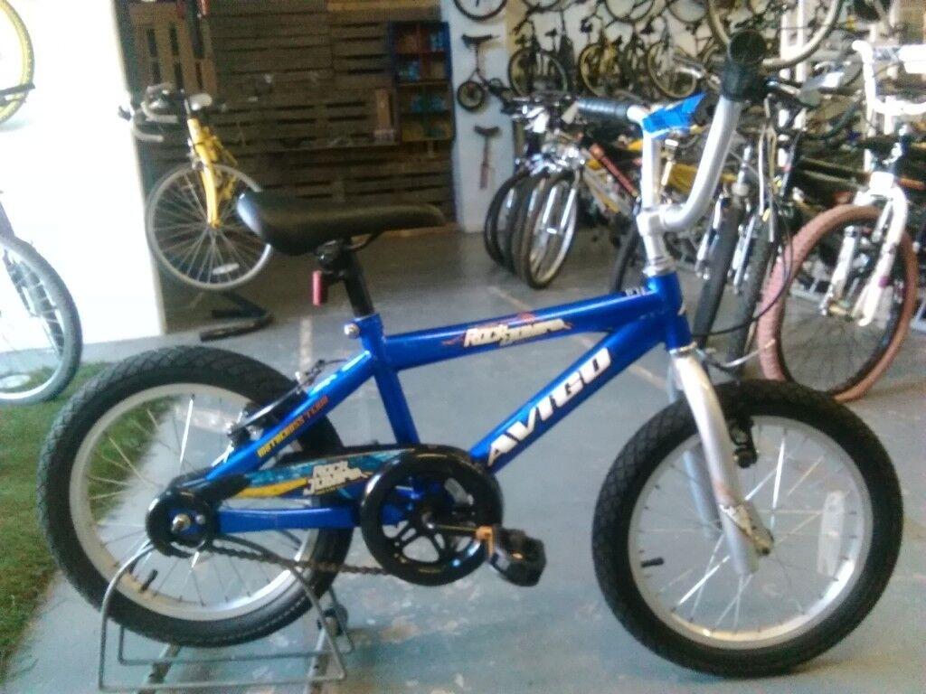 Boys Avigo Rock Jumper Bike 16 Inch Wheels Bluesilver