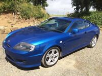 Hyundai Coupe 2.7 V6 - 2005 Blue, Low Mileage, one previous owner. Price £1700