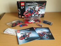 LEGO Technic 8068 Rescue Helicopter (£25), Lego Technic 8071 Bucket Truck (£35), Jenga game (free)