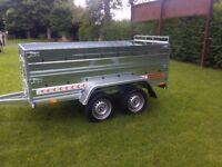 NEW Cars trailer 8,7'x4,2 x 2,62 twin axle,double broadside and ramp £ 1150 inc vat