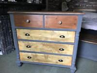 Large chest of drawers world map