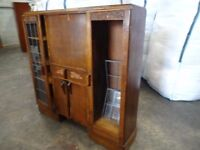Vintage Bureau Display Cabinet sides restoration up cycle shabby chic