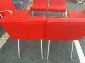 Red fabric french chairs + Delivery