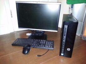HP SLIMLINE PC / HP SCREEN / HP KEYBOARD MOUSE / INBUILT WIRELESS