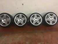 "18"" MERCEDES AMG ALLOY WHEELS AND TYRES. AS NEW CONDITION"