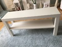 Ikea White 'Lack' TV Bench