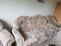 3seater sofas with 2single armchairs