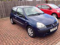 Clio Mk2 1.2L 16V - Blue - 2004 - 65K Miles - 6 Months MOT