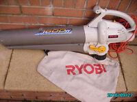 RYOBI 1600 watt Powerfull LEAF BLOWER/VACUUM with Bag