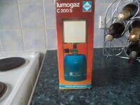 Lumogaz gas lantern, new, never been used.