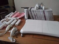 Wii console - games - controllers - balance board