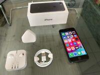 Black Apple Iphone 7 32GB On O2 + Warranty