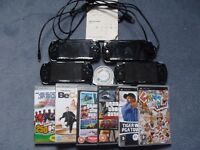 4 Working/Faulty Sony Playstation Portable PSP Consoles Bundle inc Games + UMDs