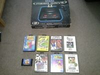 Sega megadrive 2 boxed with 8 games