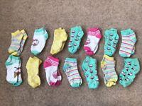 Girls sock bundle x 14