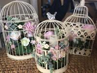 Wedding table centre peace floral cages