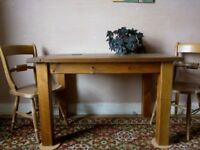 Vintage Rustic Kitchen Table
