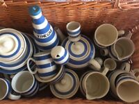Staffordshire blue and white crockery