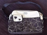 brand new never used brown nappy bag