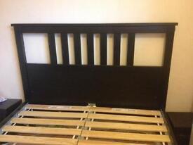 IKEA Hemnes black-brown double bed