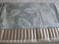 OLIVIA EMBROIDERED KING SIZE DUVET COVER & 2 MATCHING PILLOW CASES.DUCK EGG AND IVORY FROM DUNELM