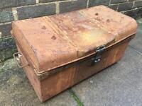 Small metal decorative trunk