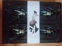 Collectible Batman figures. 75th anniversary item. Boxed
