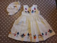 M&S 9-12 month cream dress