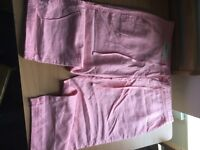 Pink size 16 cropped next trousers