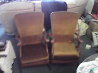 Vintage Recliner Fireside Arm Chairs