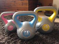 Kettlebells 2, 3 & 4kg for sale