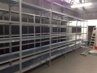10 bays Galvenised SUPERSHELF industrial shelving 2m ( pallet racking /storage)