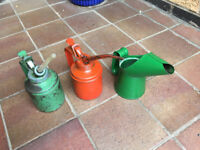 Three Vintage Oil Cans