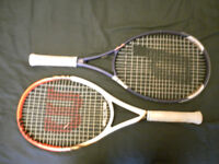 WILSON & PRINCE RACQUETS incl BABOLAT 'Roland Garros' back pack.