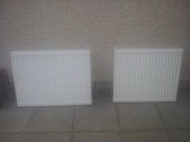 Compact Single-Panel Single Convector Convector Radiatorsx2 White H600 x L800mm and H600 x L700mm