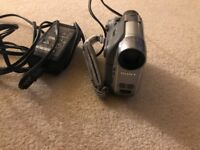 Sony Handycam DCR-HC19 - Camcorder - optical zoom: 20 x in silver