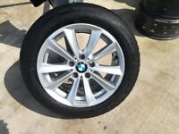 BMW f10 genuine 17 inch alloy with run flat tyre..
