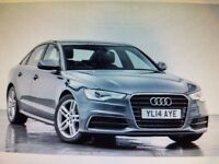 2014 A6 2.0 TDI S-LINE ULTRA,MANUL,1 OWNER,FULL AUDI SERVICE HISTORY,FULL BLACK LEATHER,HEATED SEATS