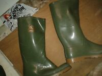 Green wellington boots, brand new
