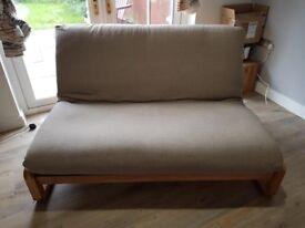 Futon Company 2 Seater Sofa Bed Oak