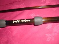 DAIWA WHISKER 2 PC 12FT 2.5 T/C CARP ROD MADE IN GREAT BRITAIN