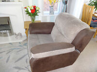 Harveys manual recliner armchair & 2 seater manual recliner sofa. Very good condition. £400 ovno