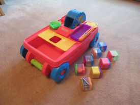 Offered at £10 - Fisher Price Peek a Blocks Activity Wagon