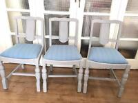 VINTAGE CHAIRS SET x4 FREE DELIVERY LDN🇬🇧SHABBY CHIC no table