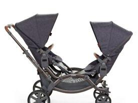 Abc zoom twin/ tandem pushchair